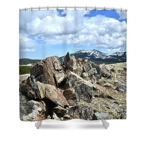 Rocky Crest At Big Horn Pass Shower Curtain