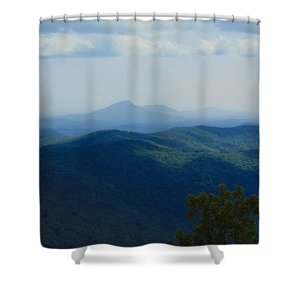 Rocky Mountain Overlook On The At Shower Curtain