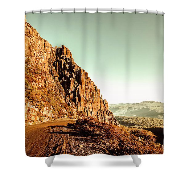 Rocky Mountain Route Shower Curtain
