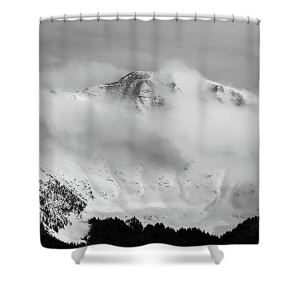 Rocky Mountain Snowy Peak Shower Curtain