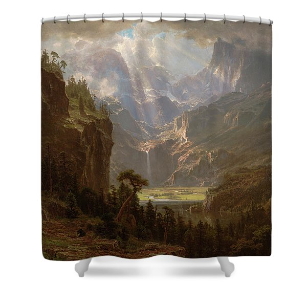Rocky Mountains, Lander's Peak Shower Curtain