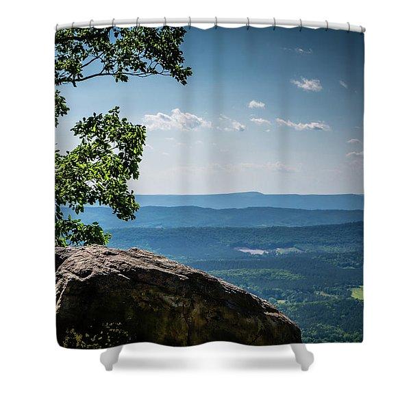Rocky Perch Shower Curtain