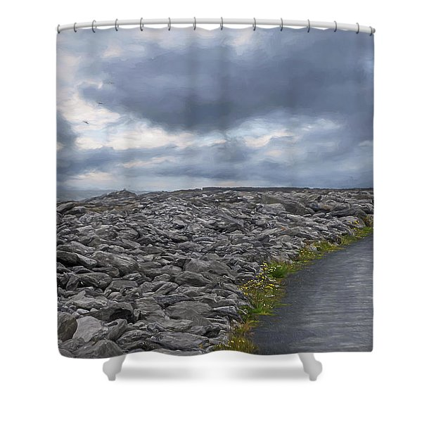 Rocky Road To The Lighthouse Shower Curtain