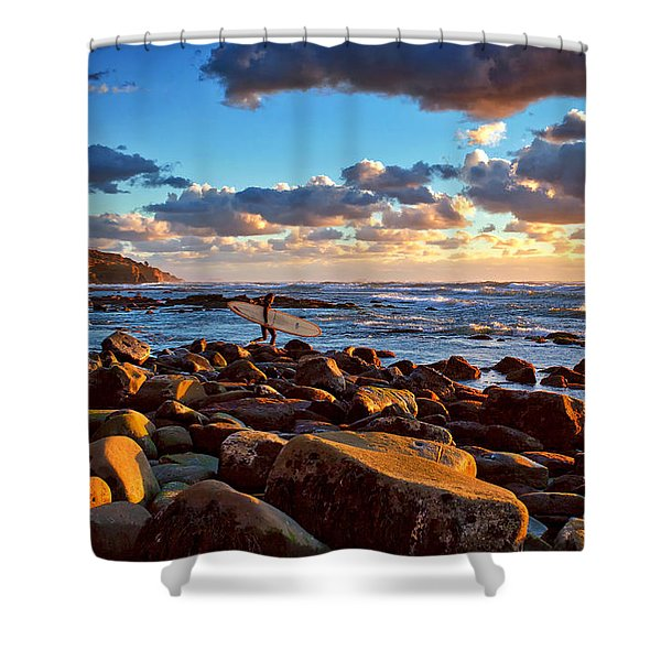 Rocky Surf Conditions Shower Curtain