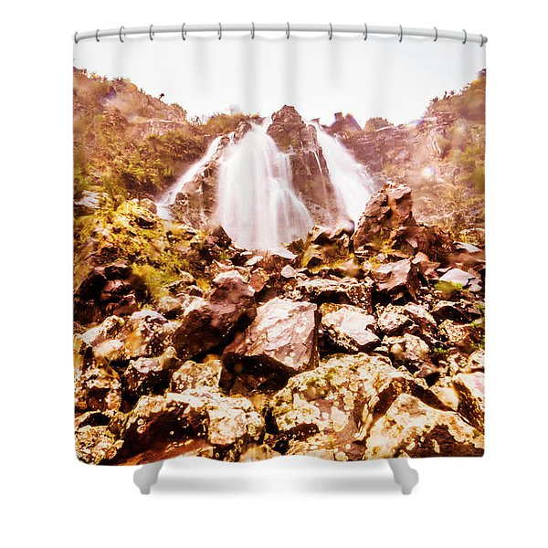 Rocky Water Wilderness Shower Curtain