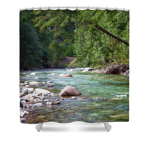 Rocky Waters In The North Cascades Landscape Photography By Omas Shower Curtain