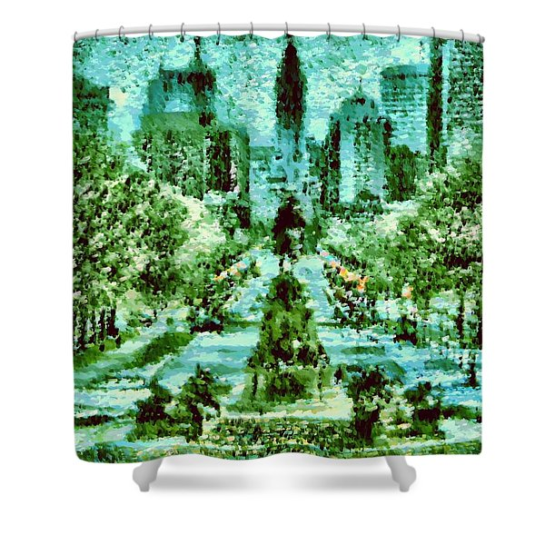 Rocky's View Shower Curtain