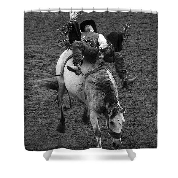 Rodeo Bareback Riding 13 Shower Curtain