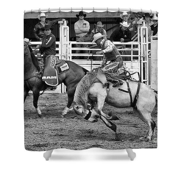 Rodeo Saddleback Riding 2 Shower Curtain