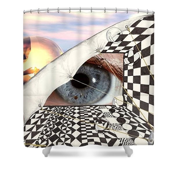 Roll Back Shower Curtain