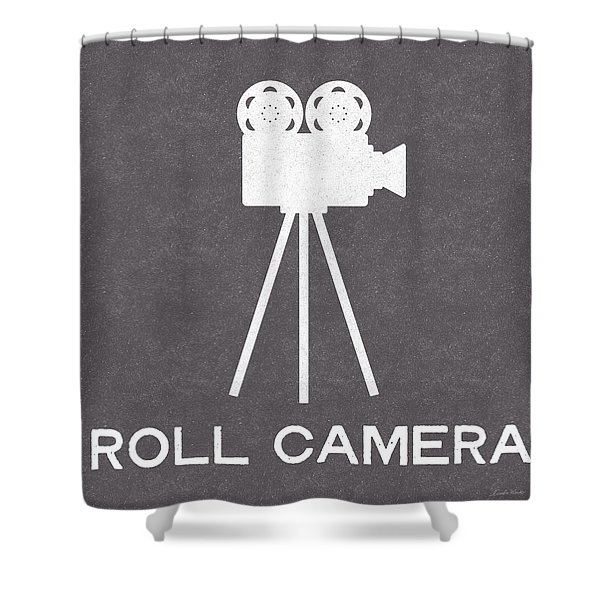 Roll Camera- Art By Linda Woods Shower Curtain