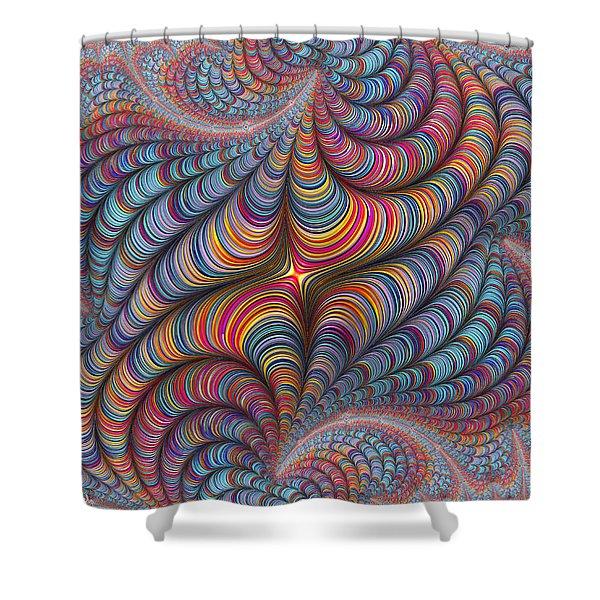 Rolled Blanket Bingo Shower Curtain
