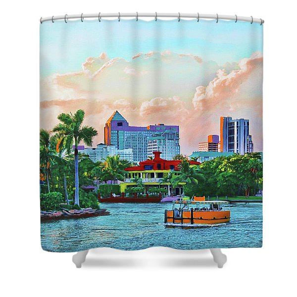 Rolling Down The New River Shower Curtain