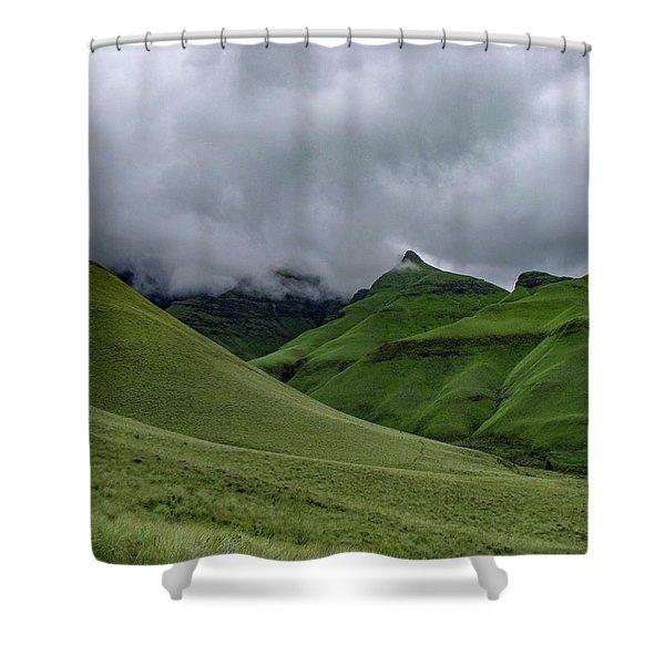 Rolling Green Drakensberg Mountains Shower Curtain