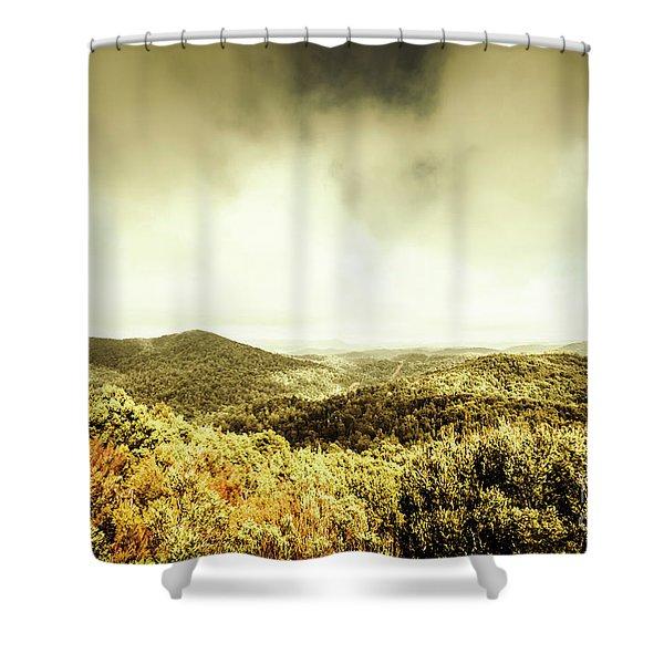 Rolling Hills Of The Tarkine, Tasmania Shower Curtain
