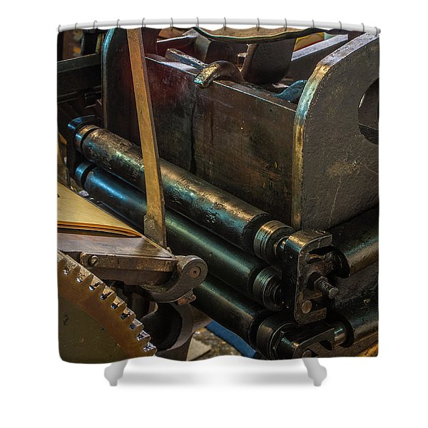 Rolling In Ink Shower Curtain