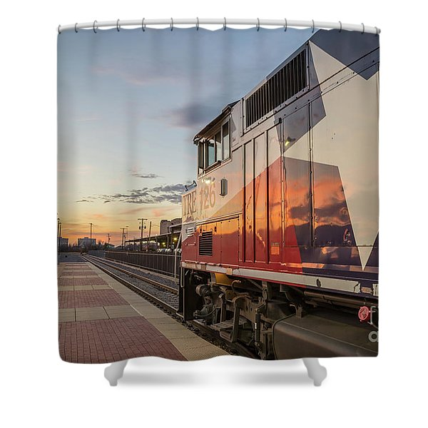 Rolling Into The Sunset Shower Curtain