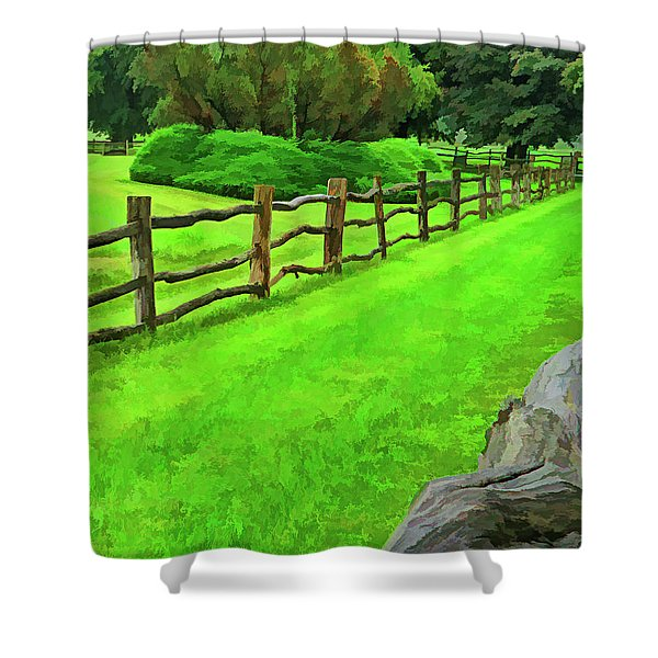 Rolling Rock Bridle Trail 2 Shower Curtain