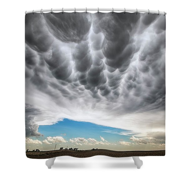 Rolling Sky Shower Curtain