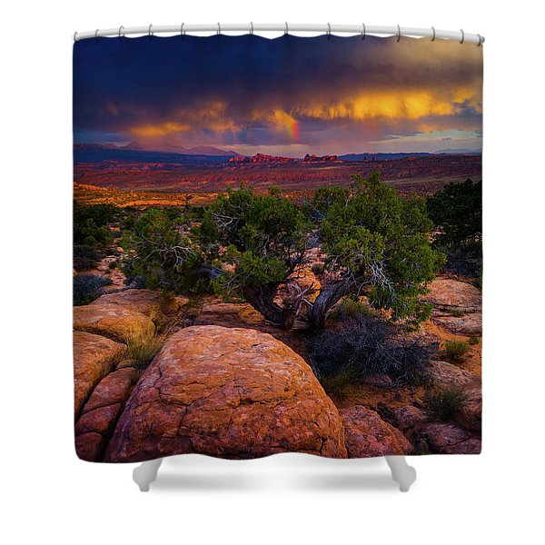 Shower Curtain featuring the photograph Rolling Thunder by John De Bord