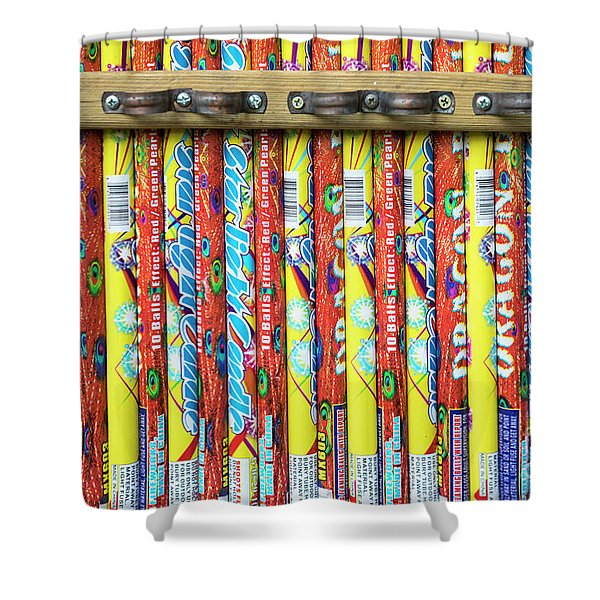 Roman Candles Shower Curtain