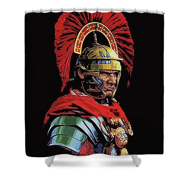 Roman Centurion Portrait Shower Curtain
