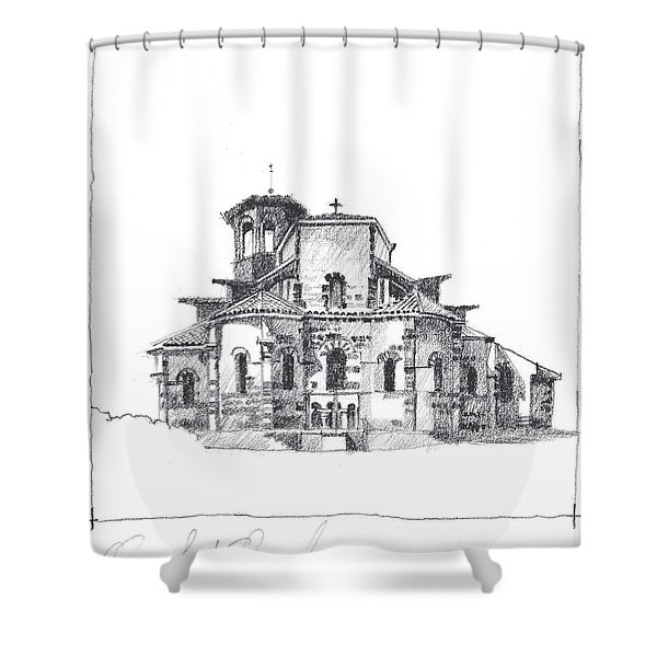Roman Church At Chamalieres Shower Curtain