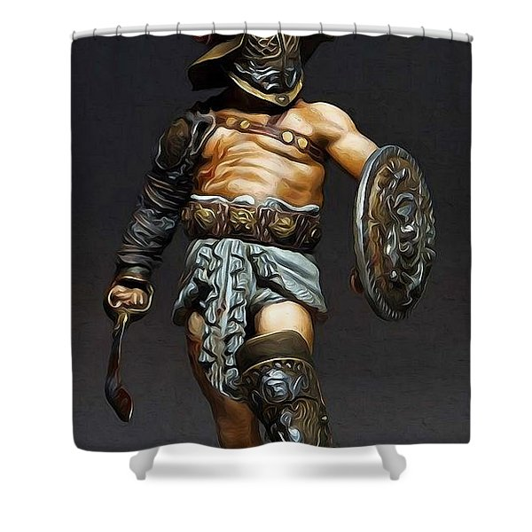 Roman Gladiator - 02 Shower Curtain