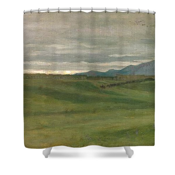 Roman Landscape Shower Curtain