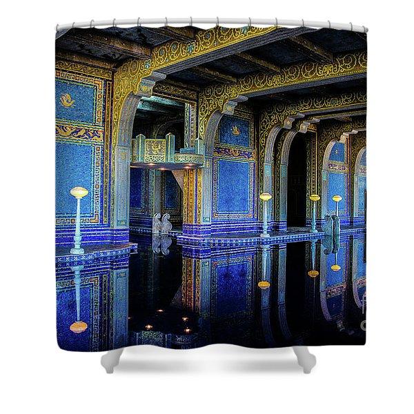 Roman Pool Shower Curtain