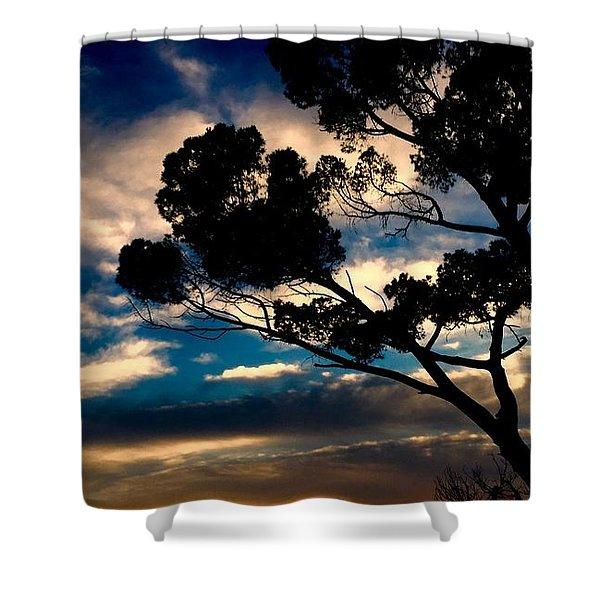 Roman Sunset Shower Curtain