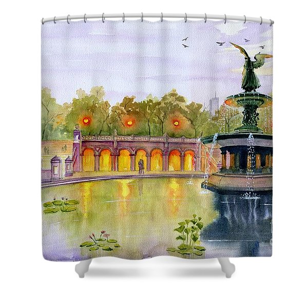 Romance At Central Park Nyc Shower Curtain