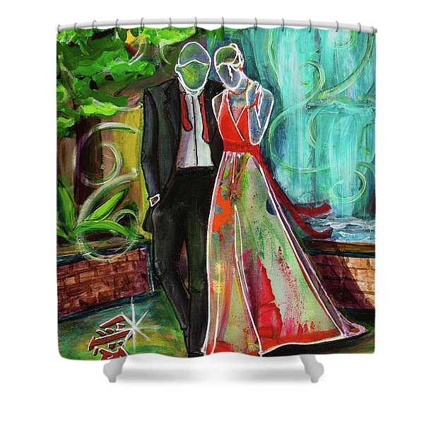 Romance Each Other Shower Curtain