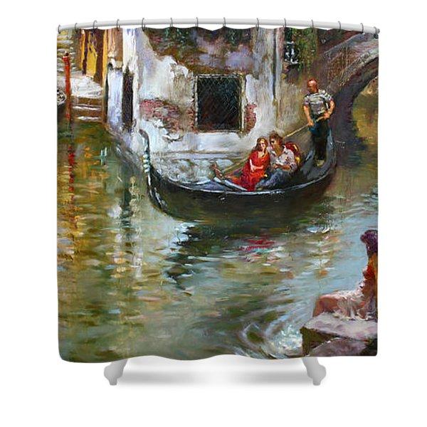 Romance In Venice 2 Shower Curtain