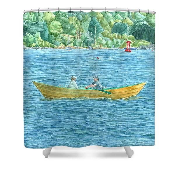 Romance On Hussey Sound Shower Curtain
