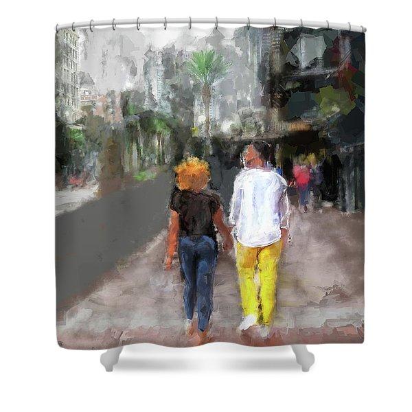 Romantic Couple Shower Curtain
