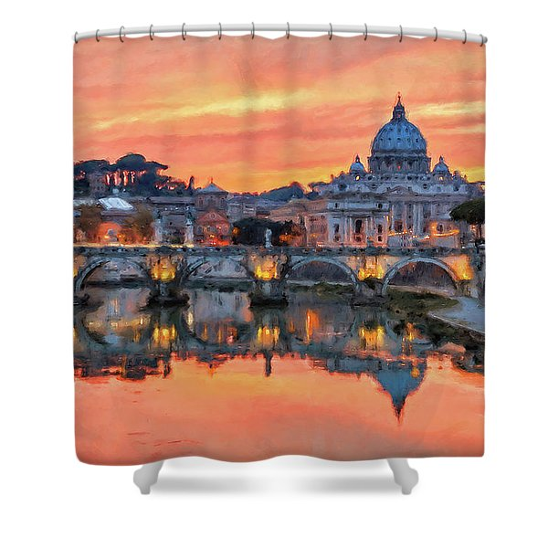Rome And The Vatican City - 01  Shower Curtain
