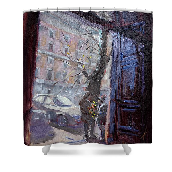 Rome, Flowers For My Valentine Shower Curtain