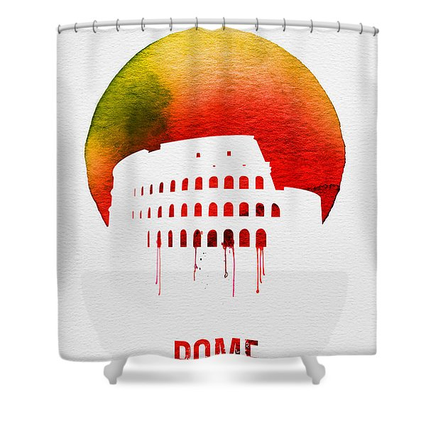 Rome Landmark Red Shower Curtain