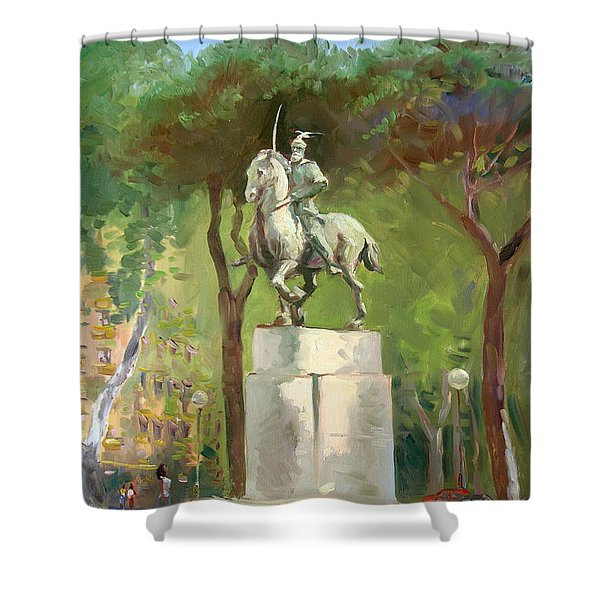 Rome Piazza Albania Shower Curtain