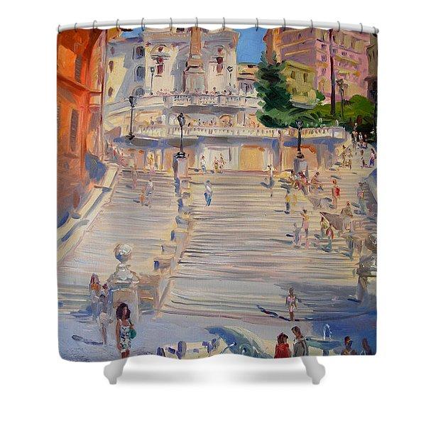 Rome Piazza Di Spagna Shower Curtain