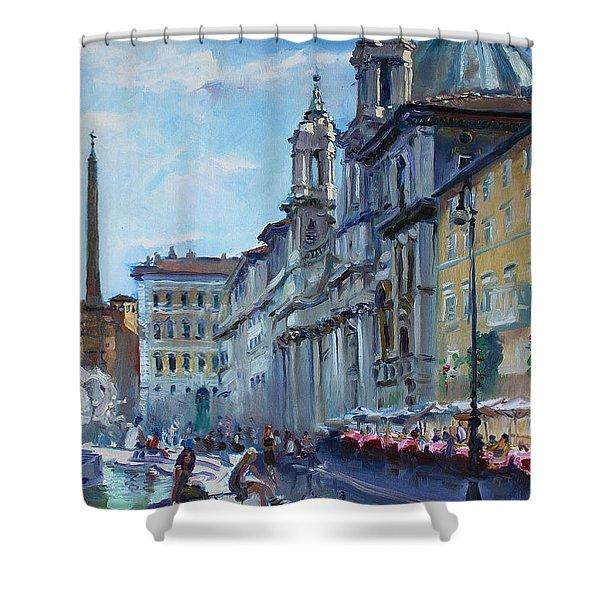 Rome Piazza Navona Shower Curtain