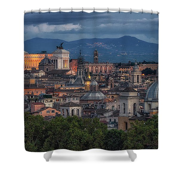 Rome Twilight Shower Curtain