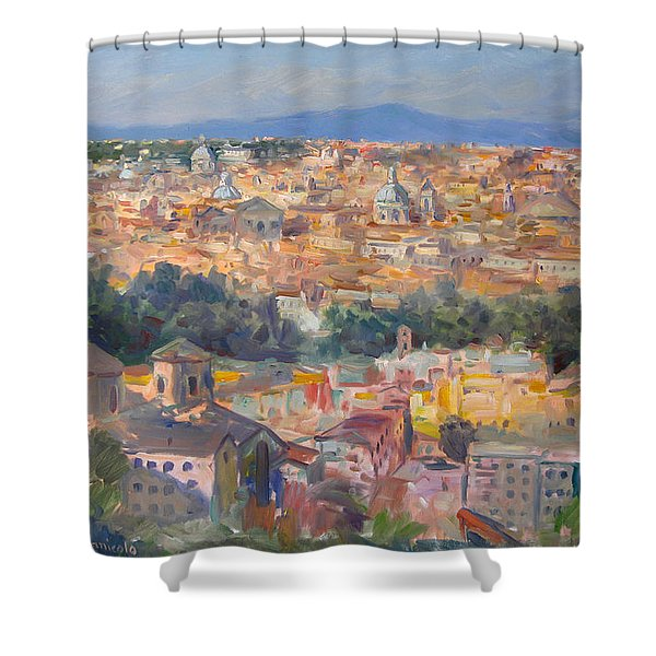 Rome View From Gianicolo Shower Curtain
