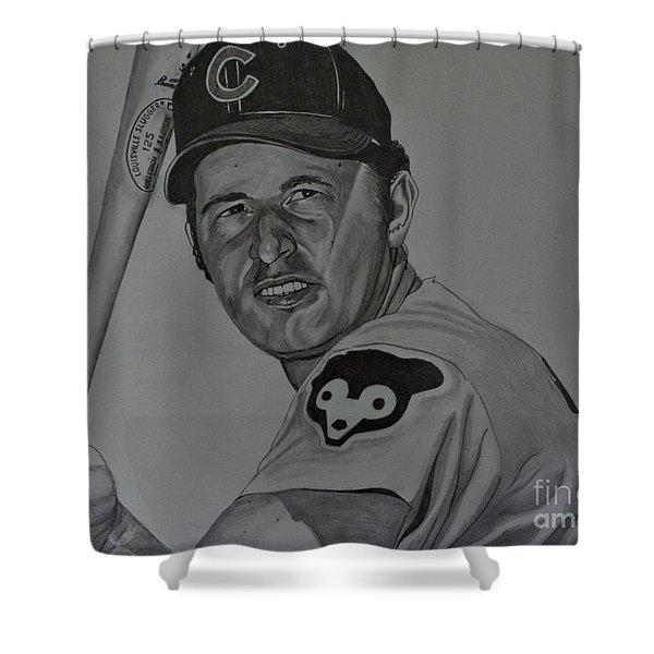Ron Santo Portrait Shower Curtain