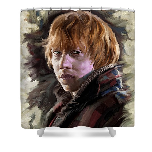 Ron Weasley, Harry Potter Portrait Shower Curtain