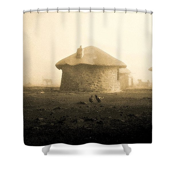 Rondavel In Lesotho Shower Curtain