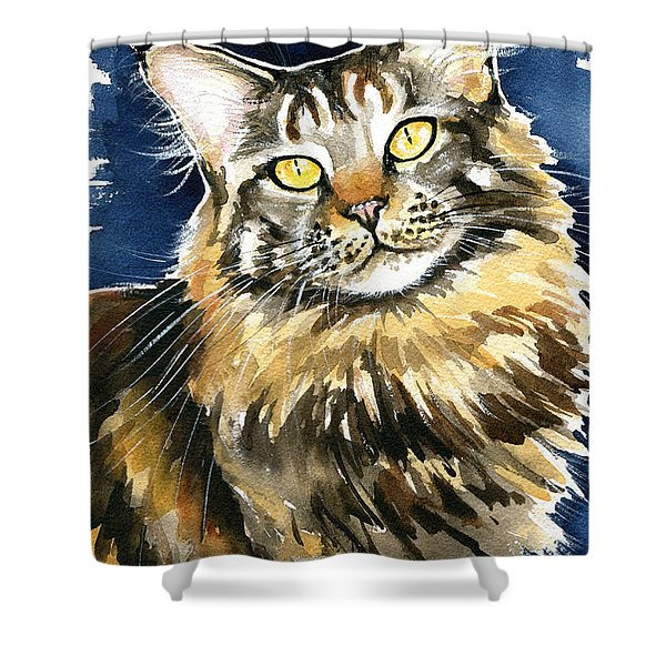 Ronja - Maine Coon Cat Painting Shower Curtain