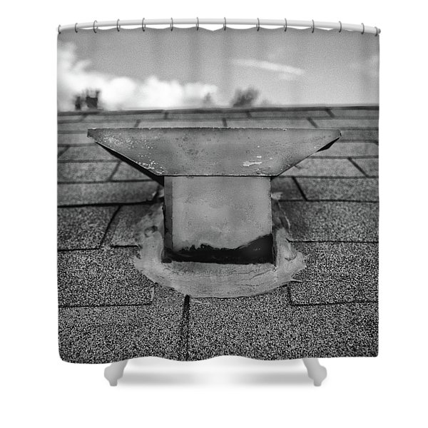 Roof Vent Cap - T Style Shower Curtain
