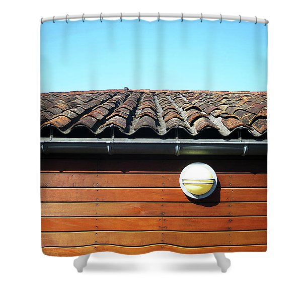 Roofline Ripples Shower Curtain